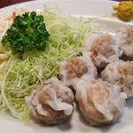 香雅 - 中華料理 香雅 @ときわ台 シューマイ定食の肉類が詰まったシューマイ