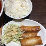 四川料理 芙蓉麻婆麺 - 春巻き(´∀`)ご飯 一応大依頼