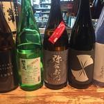 やき鳥枡家 - 日本酒の会のラインナップ