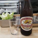 串揚げ いやさか - スタートは瓶ビール