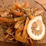 社交酒場 イム - せんべろ…さつま芋と生姜のハニーレモンきんぴら