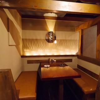 ゆったり半個室完備!!ごゆっくり料理・お酒をお楽しみください