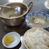 栄食堂 - 料理写真:たら汁と、ご飯(中)