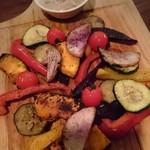 76439008 - 野菜の炭火焼盛り合わせ
