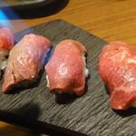 76439177 - ⑬山形牛の炙り包み・炙ってますよ~