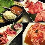 "BeefGarden 目黒 - ""巻き野菜セット、黒タン盛り、極上牛盛り、本日の究極の1枚"""