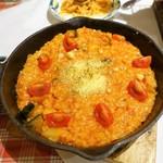 ルージュトマト - パルジャーノレジャーノの焼きリゾット