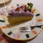 ルージュトマト - 紫いものタルト