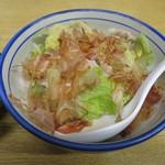 そば処 丸富 - 豚バラ肉と白菜煮