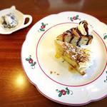 英国紅茶専門店 THE TEA HOUSE  - 本日のケーキ、ハーフカットで2種類
