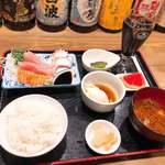 居酒屋酔多話 - 料理写真:造り盛合せ定食 580円