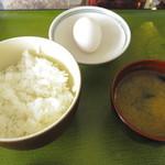 ふみちゃん食堂 - 玉子かけごはんセット(230円)
