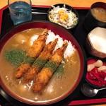 田畑屋 - そば屋の和風カレー丼(1,512円)