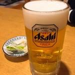 田畑屋 - 生ビール・中(495円)