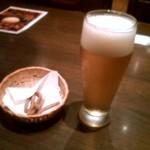 そじ坊 - グラス生ビール&そばかりんとう