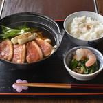 櫻田 - 鴨 うどん鍋+胡椒飯