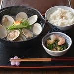 櫻田 - はまぐり うどん鍋+胡椒飯