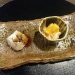 日本料理 まめぞう - 料理写真:柿ゴマ豆腐と焼きゴマ豆腐