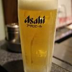 あべとん - 生ビールはキンキンに冷えてます