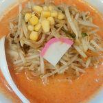 濃厚タンメン三男坊 - 辛スープ(麺なし)、野菜マシ
