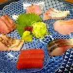 海の日  - ◆熟成刺身盛り合わせ(本まぐろ、クエ、ブリ、ヒラマサ、金目鯛、鰆、鯖)