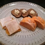 76453873 - いぶりがっこチーズ、あん肝、からすみ