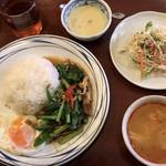 76455615 - カイラン菜と揚げ豚肉炒めライス ¥756