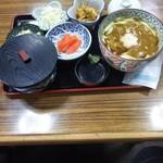 めん房にし富 - 料理写真:カレー南ばんセット(うどん)