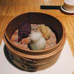 76459411 - 飲茶三点盛り 海鮮 豚ヒレ肉 牛頰肉