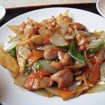 7646507 - 今日は「鶏肉と野菜のピリ辛炒め」