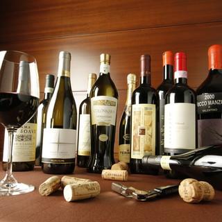 世界のワインを常時グラス18種類ご用意!600円~
