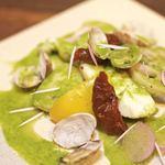 デイライトキッチン - 真タラとアサリの蒸し煮 旬野菜のピュレソース