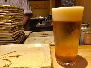 鳥よし 赤坂店 - 生ビール