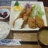 れすとらん ふるさと - 料理写真:カキフライ2エビ2の定食1450円