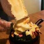 76466380 - 「グリル野菜とハイジのラクレットチーズ」