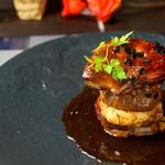 BEEF×ITALIAN Montare - 料理写真:フォワグラと牛ヒレのロッシーニ〜ミルフィーユ仕立て〜