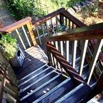 cafe MURO - 外階段を上ると