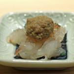 鮨 なんば - 牡丹海老 海老味噌のせ