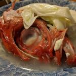 天史朗寿司 - 金目鯛の塩煮 こんな旨い物は他にあるのか…