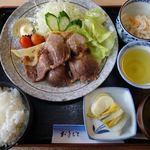 うめや食堂 - 熱川ポークみそ焼肉定食 1200円