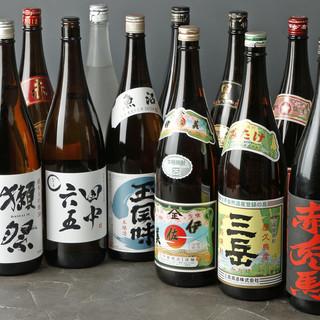 日本酒・焼酎豊富!九州のお酒を多数ご用意しています。