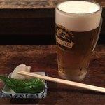やきとりさくま - 料理写真:生ビールにお通し