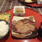 キッチン 秋津 - 牛ロースステーキ膳