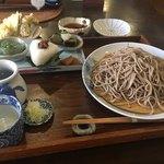 76478071 - 川場膳に平日限定の野菜天ぷらを加えて