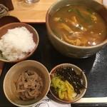 京都仕込みのかれーうどん 椿 - あげかれーうどんと定食セット