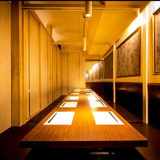 夜景の見える個室空間