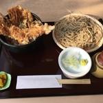 武柳庵 - あなご天・小そばセット(1,000円)