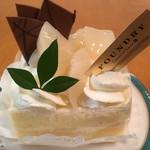 ファウンドリー - 青森県産ゼネラル・レクラークと阿寒湖酪農家のショートケーキ590円