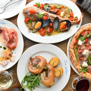 シェフのこだわりがつまった南イタリア料理が堪能できます