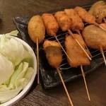 串カツ・串焼き わはは - 料理写真:串カツ